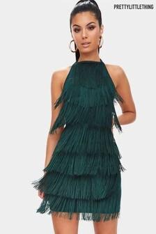 PrettyLittleThing Fringe Mini Dress