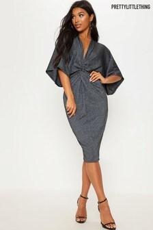 PrettyLittleThing Batwing Sleeve Midi Dress