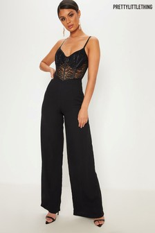 c40e50691a2 Women s jumpsuits and playsuits PrettyLittleThing Jumpsuit Black ...