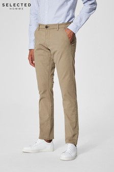 Selected Homme Organic Cotton Chinos