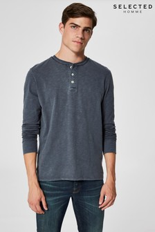 Selected Homme Button Down Long Sleeve T-Shirt