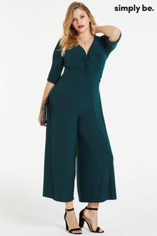 Simply Be Twist Front Jumpsuit