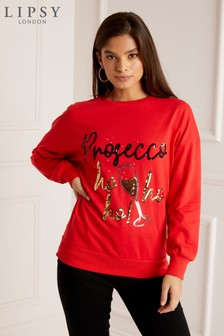 Lipsy Christmas Prosecco Sweat