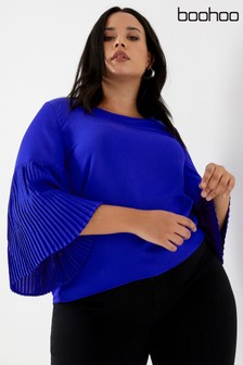 Boohoo Curve Pleated Shift Top
