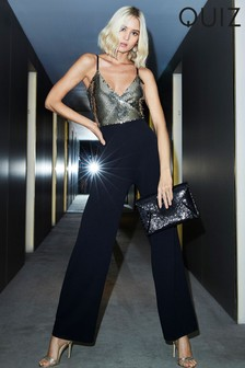 Quiz Sequin Wide Leg Jumpsuit