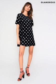 Glamorous Curve Polka Dot Tea Dress