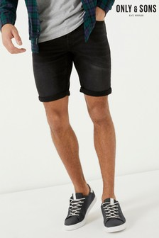 Only & Sons Denim Wash Shorts