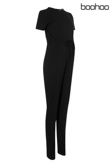 Boohoo Maternity Wrap Front Jumpsuit