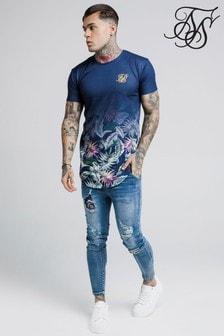 Sik Silk Jeremy Vine T-Shirt mit abgerundetem Saum