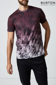 Burton Geblümtes T-Shirt mit Farbverlauf