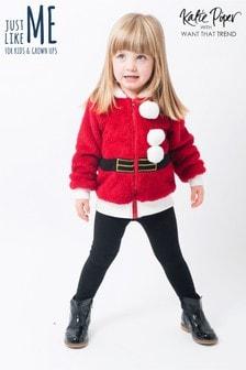 سترة بقلنسوة عيد الميلاد Mummy And Me بسحاب سانتا من Want That Trend