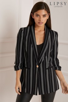 Lipsy Stripe Long Line Blazer