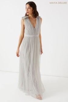 Maya Petite Tulle Maxi Dress
