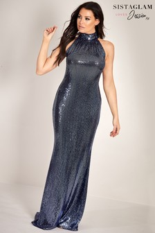 Sistaglam Loves Jessica Sequin Maxi Dress