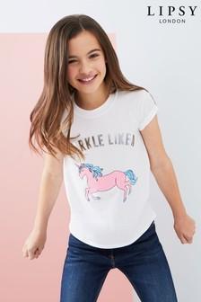 Lipsy Girl Sparkle Like A Unicorn Tee