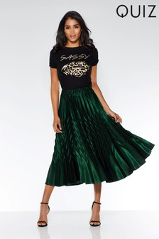 Quiz Pleated Midi Skirt