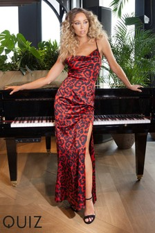 Quiz Leopard Print Maxi Dress