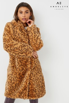 Angeleye Leopard Print Coat