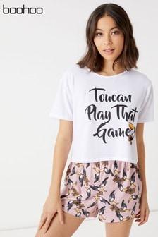 Boohoo Toucan Short And PJ Set