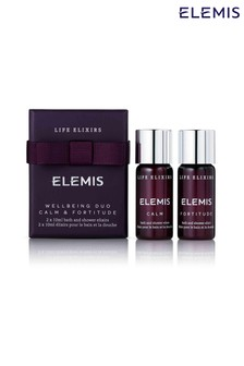 ELEMIS Life Elixirs: Calm & Fortitude Wellbeing Duo 2x10ml