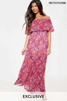 PrettyLittleThing Boho Maxi Frill Dress