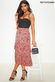 PrettyLittleThing Tiered Ruffle Maxi Skirt