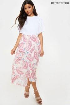 PrettyLittleThing Paisley Print Maxi Skirt
