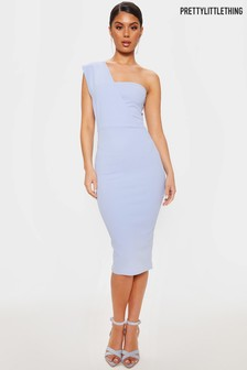 PrettyLittleThing One Shoulder Bodycon Midi Dress