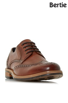 Bertie Leather Eyelet Chunky Brogues