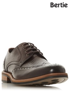 Bertie Woven Detail Leather Brogue Shoes