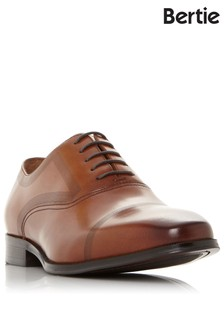 Bertie Laser Detail Leather Oxford Shoes