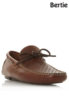 Bertie Leather Embossed Driver Shoes