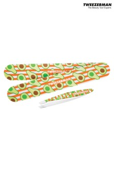 Tweezerman Avocado Tweezer & Nail File Set