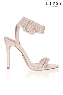 Lipsy Woven Pleated Healed Sandal