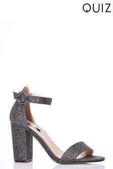 Quiz Glitter Block Heels