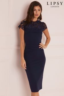 Lipsy Lace Detail Bodycon Dress