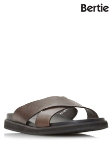 Bertie Z Strap Buckle Leather Sandals