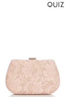 Quiz Glitter Lace Sling Bag