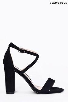 Glamorous Cross Strap Block Heels