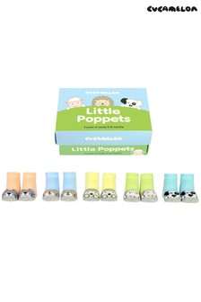 """Cucamelon Socken mit """"Little Poppet""""-Motiv, Geschenkbox für Babys, 5 Paar"""