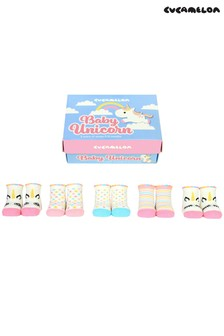 Cucamelon 'Baby Unicorn' Socks Baby Gift Box - 5 Pair