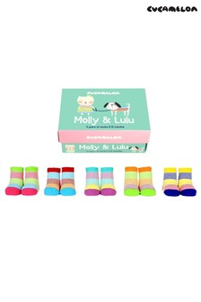 Cucamelon 'Molly & Lulu' Socks Baby Gift Box - 5 Pair