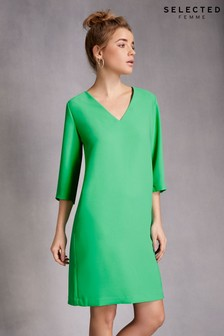 Selected Femme V neck Dress