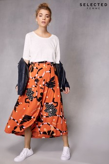 Selected Femme Printed Multi Skirt