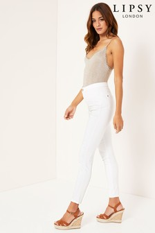 Lipsy Selena High Waisted Skinny Short Length Jeans