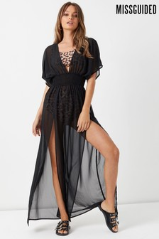 Missguided Curve Front Split Beach Maxi Dress