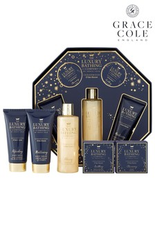 Grace Cole The Luxury Bathing Company Glowing Delights Body Care Gift Set In Cedarwood & Lime
