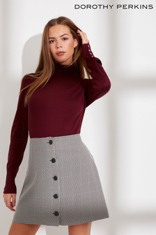 Dorothy Perkins Port Check Mini Skirt
