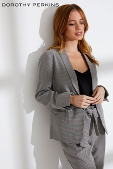 Dorothy Perkins Petite Checked Formal Blazer