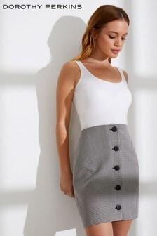 Dorothy Perkins Petite Check Print Mini Skirt